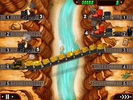 Screenshot von Übernimm in diesem allseits beliebten Actionspiel die Kontrolle über Lokomotiven, die durch berühmte amerikanische Ortschaften rattern. Schnelle Entscheidungen und die richtige Strategie sind erforderlich, wenn du die Züge zu ihren Bestimmungsorten führen