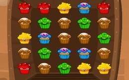 """Screenshot von """"Du magst Spiele vom """"""""Juwelen"""""""" Typ? Dann bist du hier genau richtig!  Wenn du auch von Cupcakes abhängig bist und nicht ohne Süßigkeiten überleben kannst, dann ist """"""""Muffin Monster Match"""""""" das Spiel für dich!     """""""