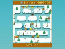 Screenshot von Das beste Labyrinth-Spiel seit Pac-Man! Bring die Snoozles heim und schütze sie vor den Geistern!