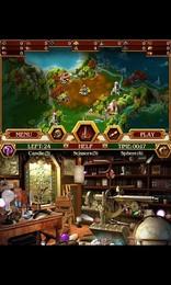 """Screenshot von """"Das verzauberte Königreich"""" ist eine bunte Märchenwelt, wo Drachen, Zauberer, Ungeheuer und eigenartige Pflanzen leben."""