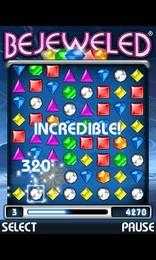 Screenshot von Bejeweled- das bekannte Internet Puzzlespiel mit garantiertem Spassfaktor jetzt auch auf deinem Handy!