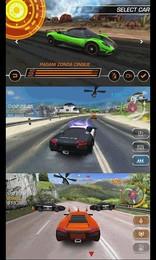 Screenshot von Spüre den Rausch der Flucht und erlebe spannende Verfolgungsjagden! Fahre als Racer oder Cop in insgesamt 48 Karriere-Events!