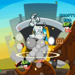 Screenshot von Worms 2: Armageddon jetzt auch auf dem Handy - mit mehr Waffen, Spielmodi, Explosionen und Locations. Explosiver Spaß!