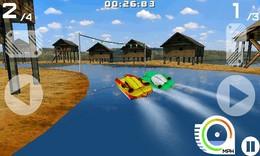 Screenshot von Bist du bereit für ein mitreißendes Abenteuer auf dem Wasser? Sport und Herausforderungen sind genau dein Ding? Dann ist Power Boats Surge genau das Richtige für dich!