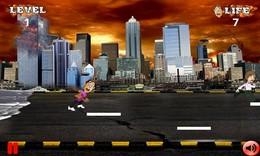 Screenshot von Die Natur hat begonnen Ihre Spielchen zu treiben und die Welt kommt zu einem Ende. Lauf um dein Leben!