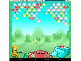 Screenshot von Im Spiel Bublex Alien Pop musst Du verschiedenen Situationen so gerecht werden, damit durch Deine Geschicklichkeit mindestens drei gleiche Blasen in einer Reihe entstehen.