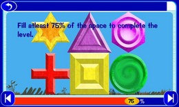 Screenshot von Nutze die Formen so effizient wie möglich und fülle damit Räume aus!