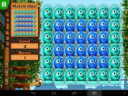 Screenshot von Die Fluffy Birds sind da! Wir empfehlen Fluffy Birds vor allem den Fans von Puzzle- und Kombinationsspielen!