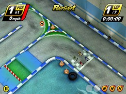 Screenshot von Touch Racing Nitro ist ein Rennspiel, das seinesgleichen sucht. Auf dem Touchscreen hat sich ein Rennspiel noch nie so intuitiv angefühlt!