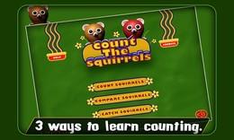 Screenshot von Count the Squirrels lässt Ihre Kinder spielen, Spaß haben und dabei ohne Anstrengung lernen. Wenn Sie es also schwierig finden, Ihren Kindern das Rechnen beiz