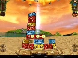 Screenshot von Sammeln Sie die Idole der gleichen Farbe in Blöcken von drei ist ein klares Thema. Schräg oder gerade, es spielt keine Rolle. Die Hauptsache ist, um den Bau des Turmes verhindern.