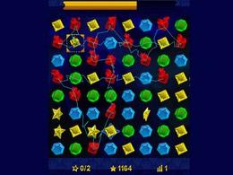 """Screenshot von Bringe vier oder mehr Edelsteine der gleichen Farbe in eine Reihe und lass sie in einer """"Jewel Explosion"""" explodieren! Je mehr Steine du zum Explodieren bringst, desto mehr Punkte bekommst du."""