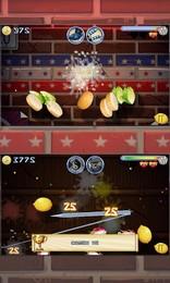 Screenshot von Du bist der Chef-Ninja! Schneide Früchte, Gemüse und Brot und bereite saftige Cocktails, köstliche Pizza und leckere Burger zu!