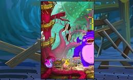 Screenshot von Ein hungriges Monster bedroht die Einhörner! Füttere es in 45 zuckersüßen Levels mit Naschereien und rette die Einhörner.