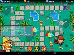 Screenshot von Zombie Blitz ist ein Tower-Defense-Spiel.
