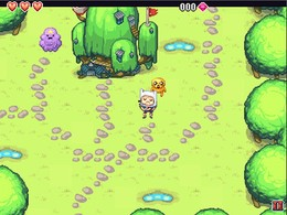 Screenshot von Das Land Ooo ist in großer Gefahr! Vier Prinzessinnen wurden von niederträchtigen Schurken entführt. Hilf Finn und Jake bei der Rettung der Prinzessinnen.