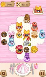 Screenshot von Bereite das größtmögliche Festmahl zu! Kombiniere 3 identische Süßigkeiten zu einer Super-Süßigkeit. Vorsichtige Planung ist der Schlüssel zum Erfolg!