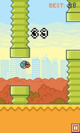 Screenshot von Der Vogel Tubby kann nicht ohne Hilfe fliegen. Kannst du ihm helfen, bis in die Unendlichkeit zu fliegen?