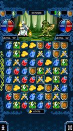 Screenshot von Es erwartet dich eine gefährliche Reise, während der du das Königreich retten musst. Verbinde die Steine und nutze deren Kraft, um deine Gegner zu schlagen. Zur Verfügung stehen dir verschiedene Zauber, Zauberstäbe und -fläschchen.