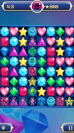 Screenshot von Jewel Explosion kehrt mit einigen neuen Funktionen und Levels zurück! Neue wertvolle Edelsteine und Kombinationseffekte erwarten dich! Die besten Spieler werden für eine unendliche Herausforderung mit einem Paket von Bonus-Levels belohnt!