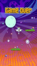 """Screenshot von Von den Machern von """"Flapping Bird"""". Wie hoch kommt Floppy Frog? Packend, superniedlich - ein Superspaß!"""