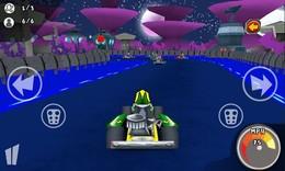 Screenshot von Begib dich auf die Gokart-Bahn, und fahr' so schnell wie du kannst! Zeige deinen Gegnern, dass du der Beste bist. Lass´ deine Konkurrenten weit hinter dir, und hol´ dir einen Platz auf dem Siegerpodest.