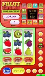 Screenshot von Sind Action- oder Logikspiele nicht das Richtige für dich, um zu entspannen? Dann versuche es mit Fruit Casino, dem Spielautomat! Keine Angst, du versuchst nur dein Glück, um den Jackpot zu gewinnen!