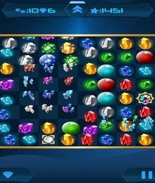 Screenshot von Entdecke die glänzenden Kristalle aus den Tiefen der Erde und verwandle sie in explosive Edelsteine. Ein klassisches 3er-Reihen-Spiel mit vielen kniffligen Levels und Spielmodi wartet auf dich!