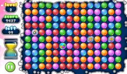 Screenshot von Plopp! Plopp! Plopp! Viel Spaß mit einem etwas anderen klassischen bubble-popping Spiel. Aces Bubble Popper beinhaltet drei verschiedene Spielmodi für jede Menge bubble-popping Spaß! Versuchen Sie im Klassik-Modus alle Blasen platzen zu lassen, oder spiel