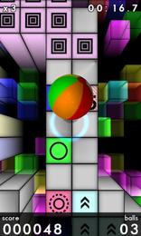 Screenshot von Prism 3D. Ein völlig neues Spiel, das deine Aufmerksamkeit und Reaktionsschnelligkeit auf die Probe stellt.