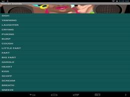 Screenshot von Human Sound Box ist eine Anwendung voll von verschiedenen menschlichen Tönen, wie z. B. Husten, Lachen, Weinen, usw.