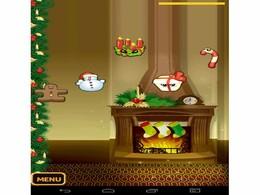 Screenshot von Stimm dich ein auf Weihnachten und jongliere herum mit festlichen Motiven.