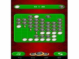 Screenshot von Die Spieler legen abwechselnd Steine auf die Spielfläche, der eine schwarze, der andere weiße Steine.