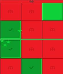 Screenshot von Ein Spiel, das bereit ist, dich von Anfang an zu unterhalten. Jeder Modus hat nur eine Regel: drücke so viele grüne Platten wie möglich und drücke nicht auf die roten!