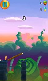 Screenshot von Nutze die Kraft deines Fingers und baue Brücken. Hilf Fluffy dem Hamster dabei Schluchten zu überqueren & die Welt zu bereisen.