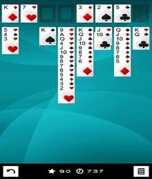 Screenshot von Die drei populärsten Solitaire-Kartenspiele in einem! Immer, wenn du dich langweilst und ein wenig Entspannung brauchst, dann spiele einfach eines deiner Lieblingskartenspiele.