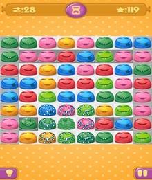 Screenshot von Jelly Match ist ein klassisches zugbasiertes Dreierreihen-Spiel mit bunter Grafik und vielen Levels!