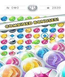Screenshot von Glänzende, bunte Blasen warten darauf, verbunden zu werden! Es erwarten dich anspruchsvolle Levels mit unterschiedlichen Zielen, wie auch ultimative Bonuslevels für die Besten!