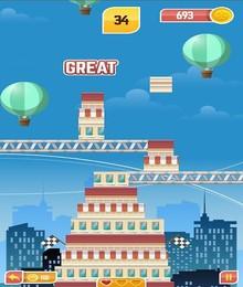 Screenshot von Baue deinen fantastischen futuristischen Turm mit einfachen Klicks am Bildschirm.