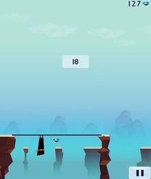 Screenshot von Dehne den Stab so, dass du damit die andere Seite erreichst.