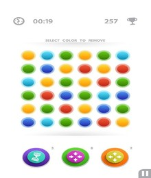 Screenshot von Entspanne dich, indem du die bunten Punkte verbindest. Verbinde so viele wie möglich und versuche auch Quadrate zu bilden.