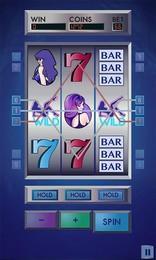 Screenshot von Die Welt der Riesengewinne und heißen Mädels erwartet dich! Hol dir einen Spielautomaten im Vegas-Stil auf das Display deines Mobilgeräts.