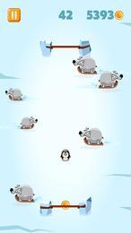 Screenshot von Hilf dem kleinen Seehund dabei, mehr Münzen zu sammeln, und gehe den hungrigen Eisbären aus dem Weg!