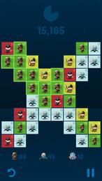 Screenshot von Bist du bereit für den Kampf? Führe gleiche Krieger zusammen, um höherrangige zu erhalten.