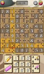 Screenshot von 1.000 Sudokus - immer dabei! Wähle zwischen 5 verschiedenenSchwierigkeitsgraden, nutz den Notizen-Modus & spiel gegen die Zeit!