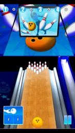 Screenshot von Bowling Fans, jetzt könnt ihr auf eurem Handy bowlen! Spiele auf Bahnen in Deutschland, Frankreich und Großbritannien!