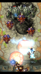 Screenshot von Feindliche Goblins stehen vor den Toren!  Horden bösartiger Kreaturen säen Tod und Zerstörung. Dein Land braucht einen Helden!