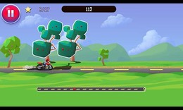 Screenshot von Spring auf dein Motorrad, fahre wild und fühl dich frei! Lass dich bloss durch nichts aufhalten, spring einfach darüber!
