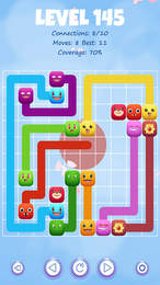 Screenshot von Verbinde die farbenfrohen Poke-Monster durch Linien.