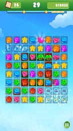 Screenshot von Führe farbenfrohe Geleejuwelen in verschiedenen Levels zu Dreierreihen zusammen!